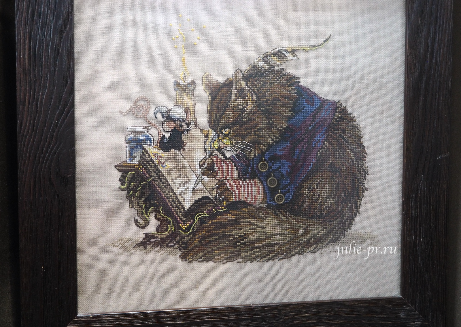 Nimue, Challigraphe, Кот каллиграф, вышивка крестом
