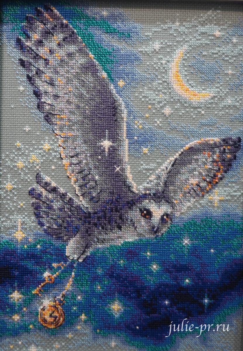 Риолис, вышивка крестом, сова