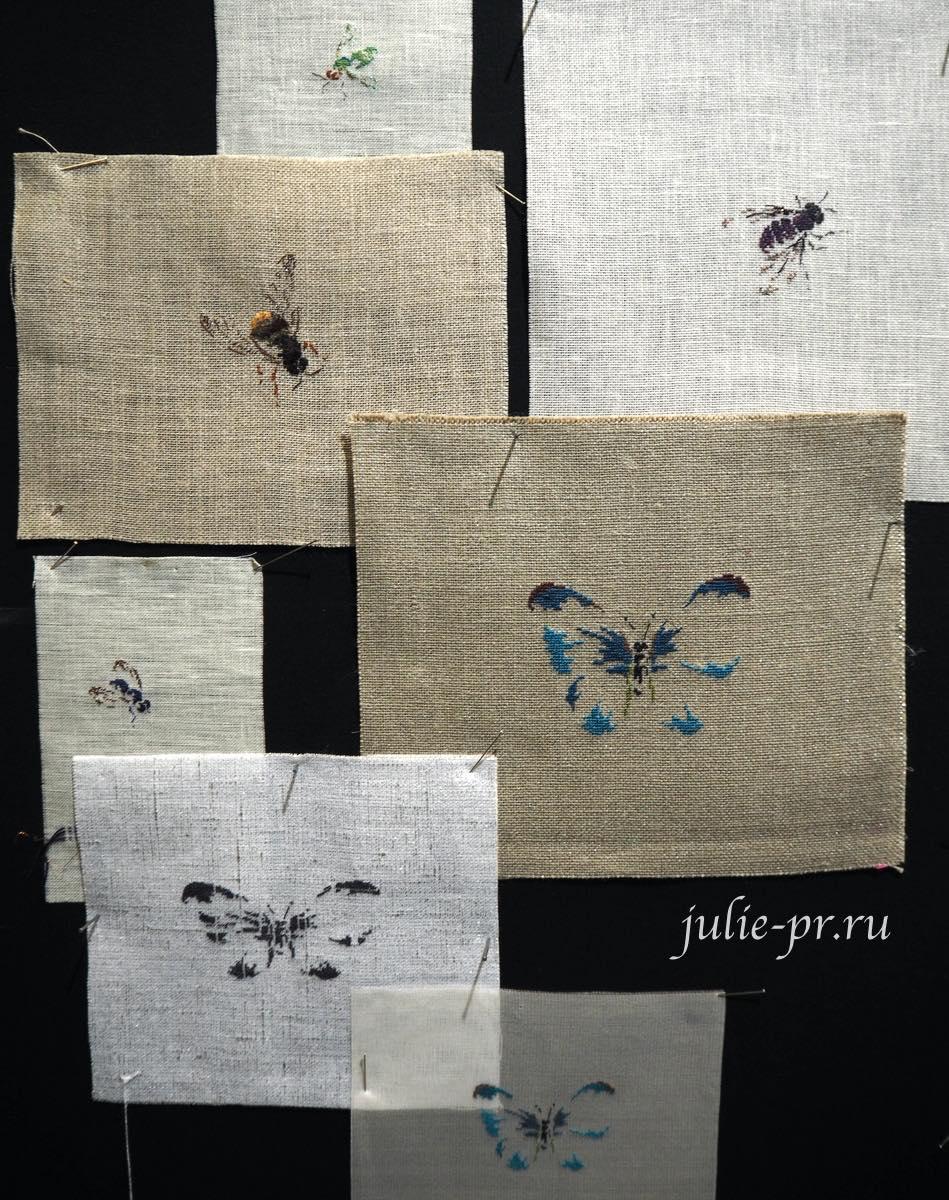 MTSA, Бабочки, пчелы, вышивка крестом, вышивка петитом