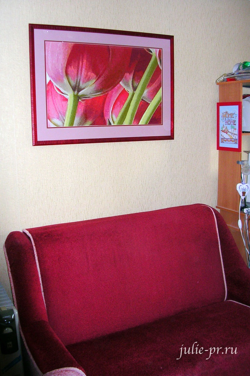 Тюльпаны в интерьере