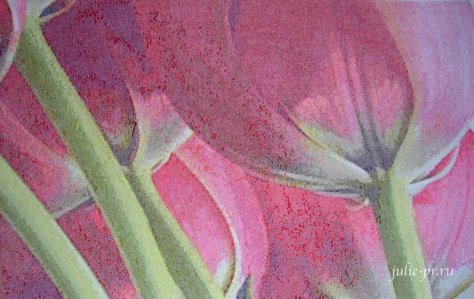 I love crossstitch, 5 tulips, пять тюльпанов, огромные тюльпаны, вышивка крестом, идеальная изнанка, вышивка с идеальной изнанкой