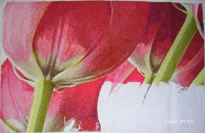 I love crossstitch, 5 tulips, пять тюльпанов, огромные тюльпаны, вышивка крестом
