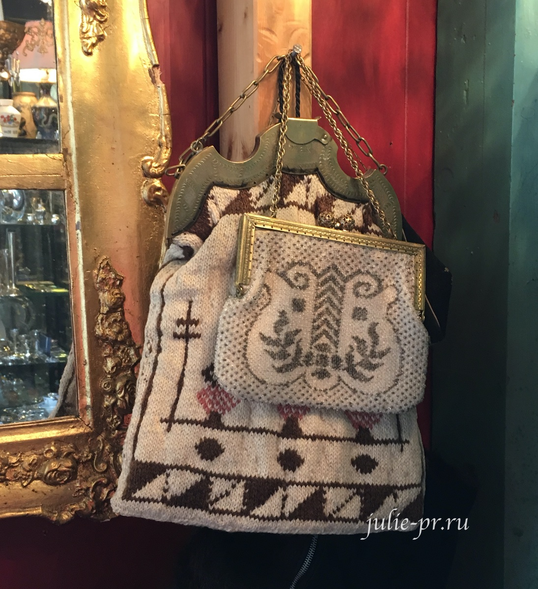 Винтажная вышивка, ридикюль, вышивка бисером, Берген, Норвегия