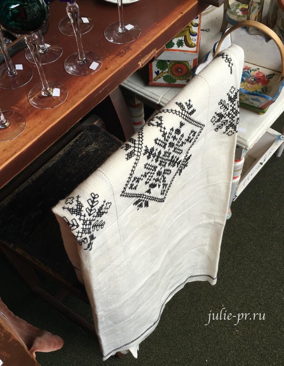 Винтажная вышивка, Берген, Норвегия, вышивка крестом, скатерть