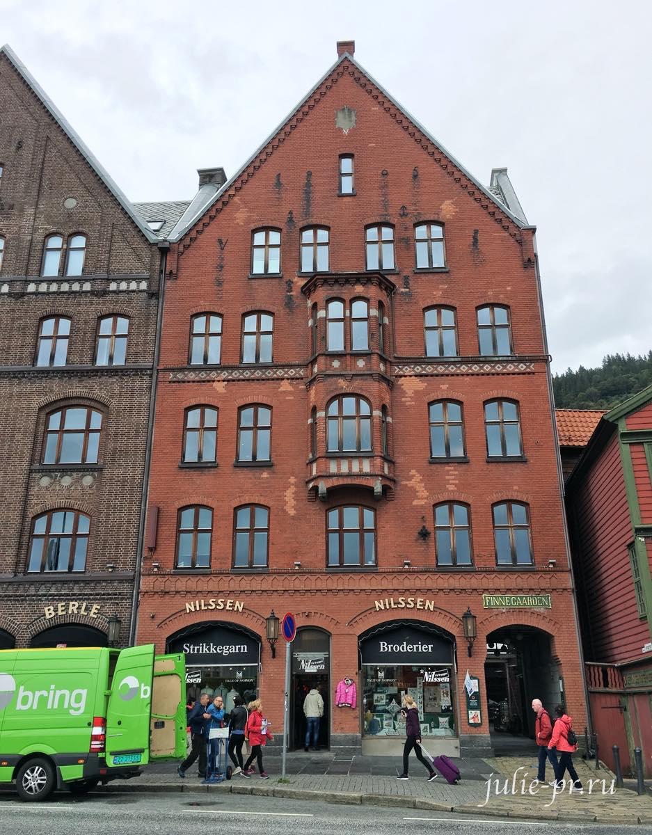 Берген, Норвегия, рукодельный магазин Nilssen, вышивка крестом