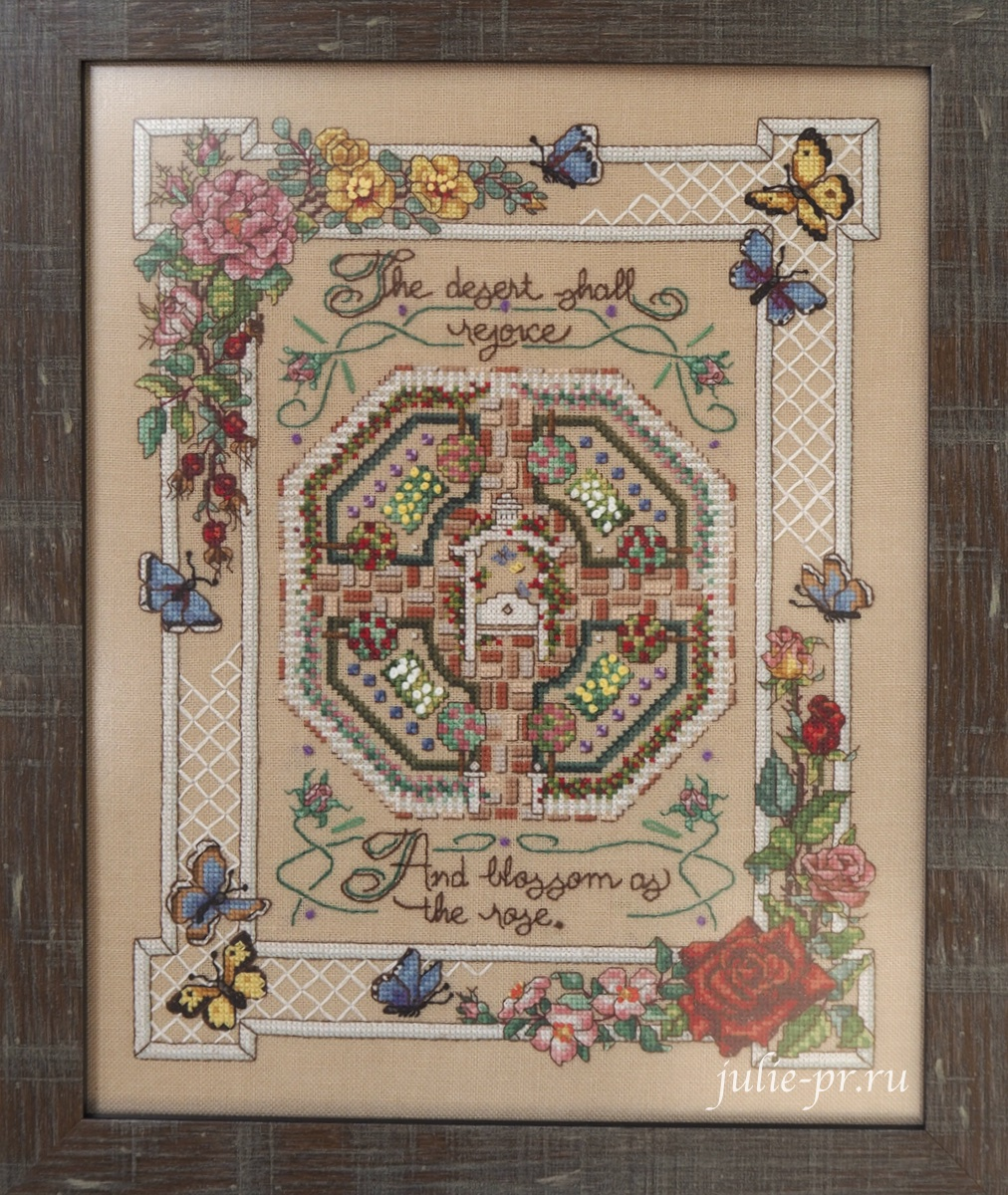 Sandy Orton, Rose Sampler, Розовый семплер, Cross Stitch & Country Crafts, вышивка крестом