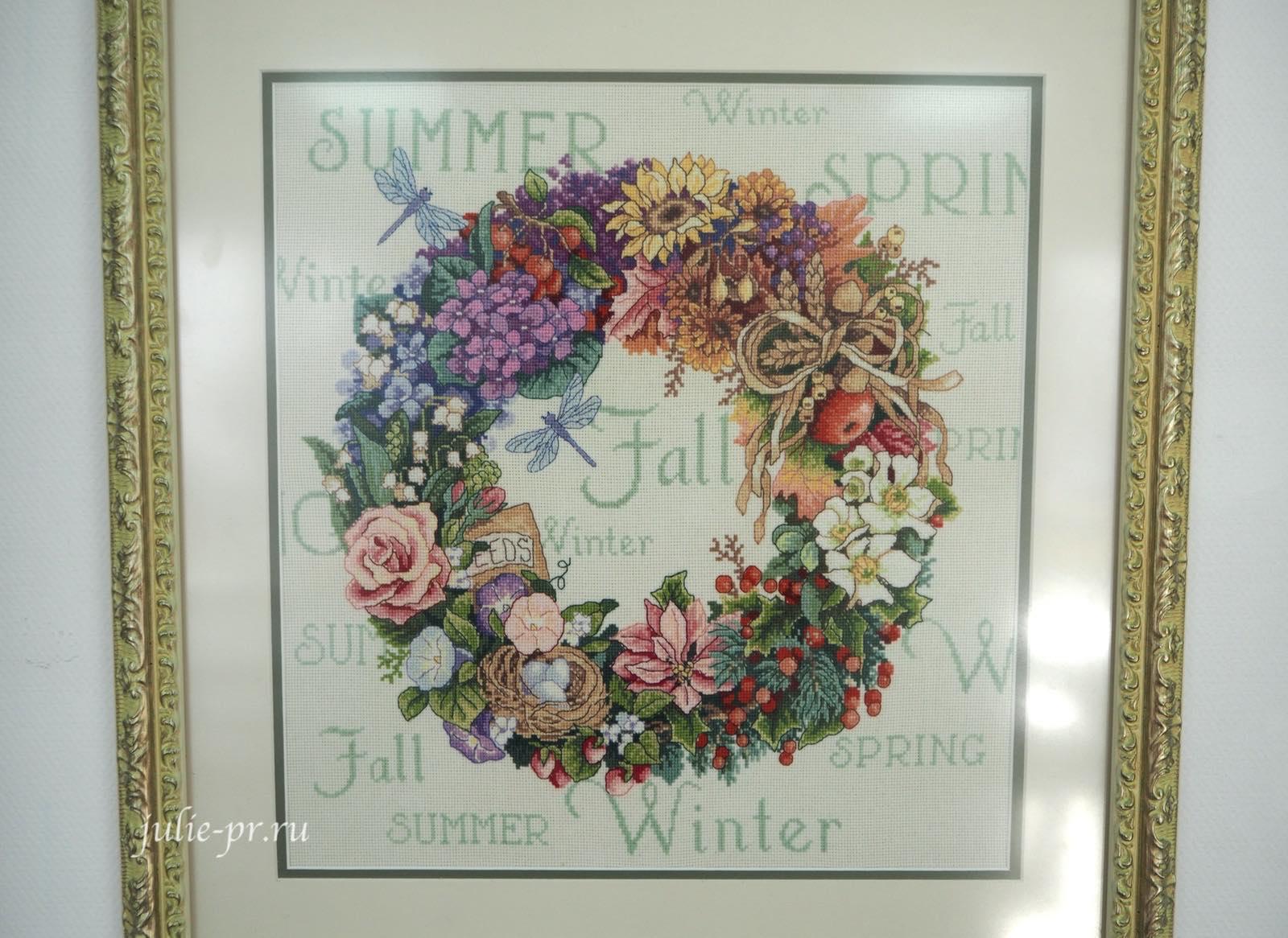 Dimensions 35040, Wreath Of All Seasons, Венок Все сезоны, вышивка крестом