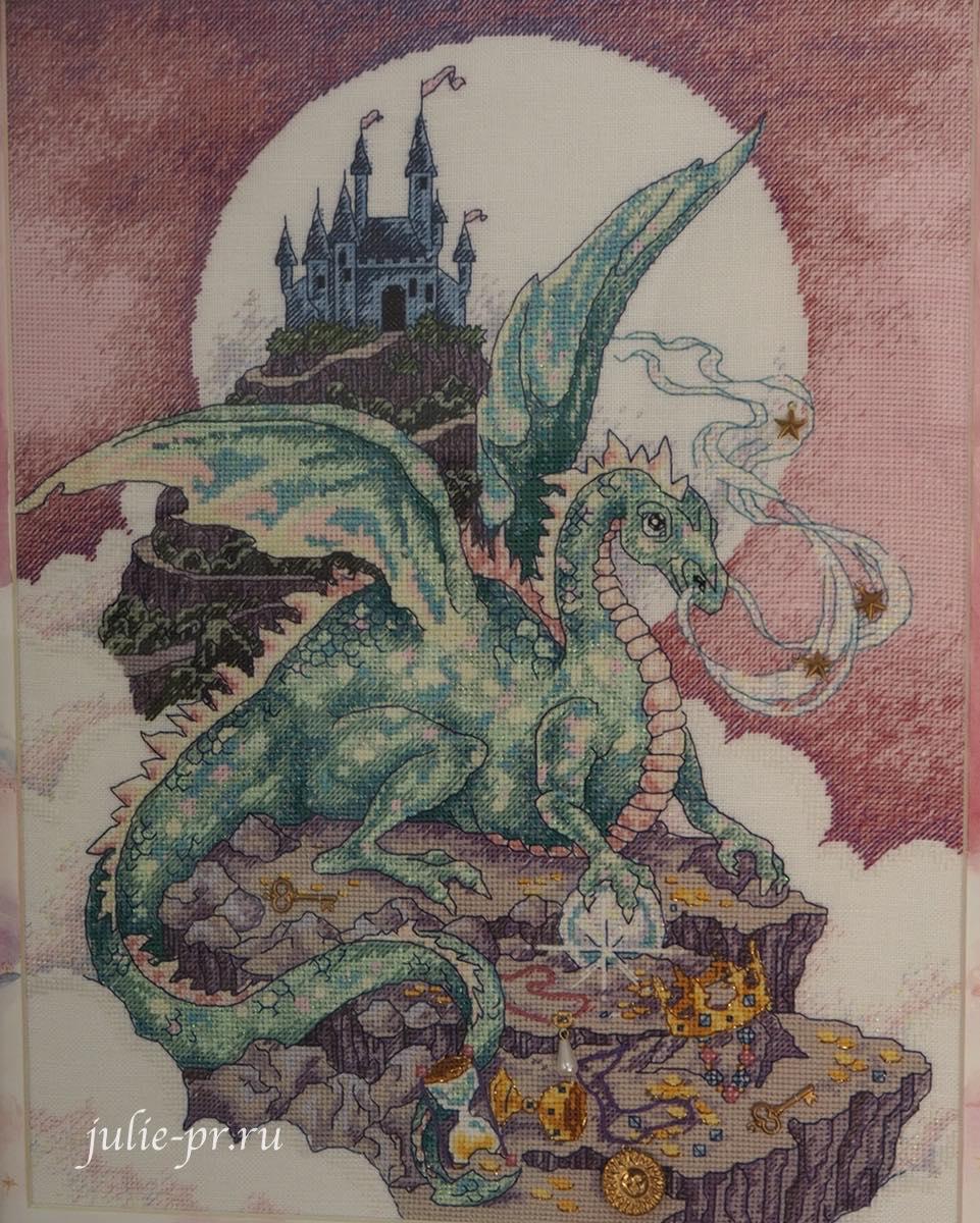 Dimensions 72499, A Mythical Dragon, мистический дракон, вышивка крестом