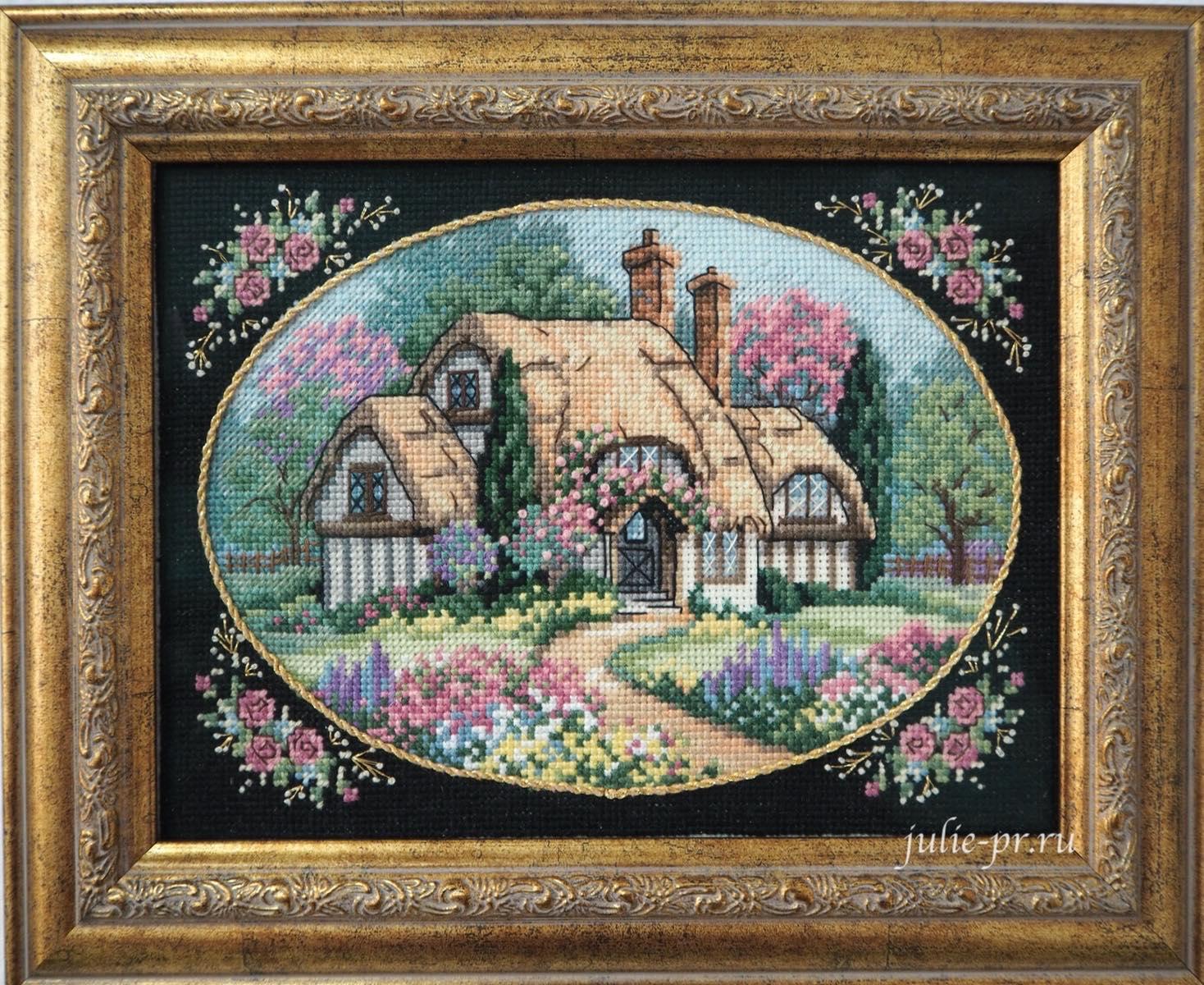 Dimensions 6710, Enchanting cottage, вышивка крестом, домик, коттедж