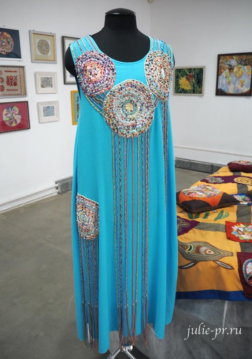 Вышивка на одежде, платье с вышивкой, вышивка бисером