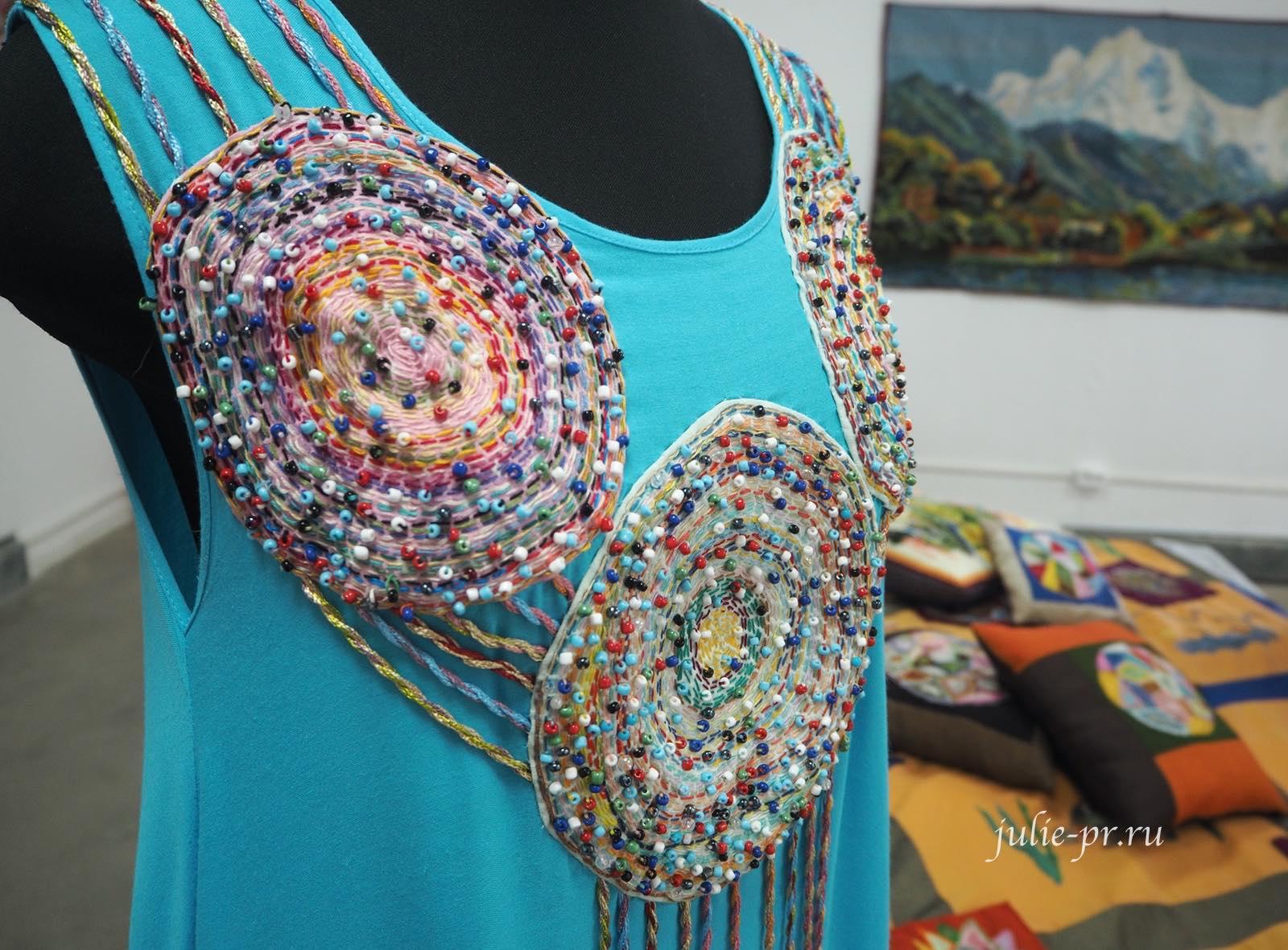 Вышивка на одежде, платье с вышивкой, вышивка