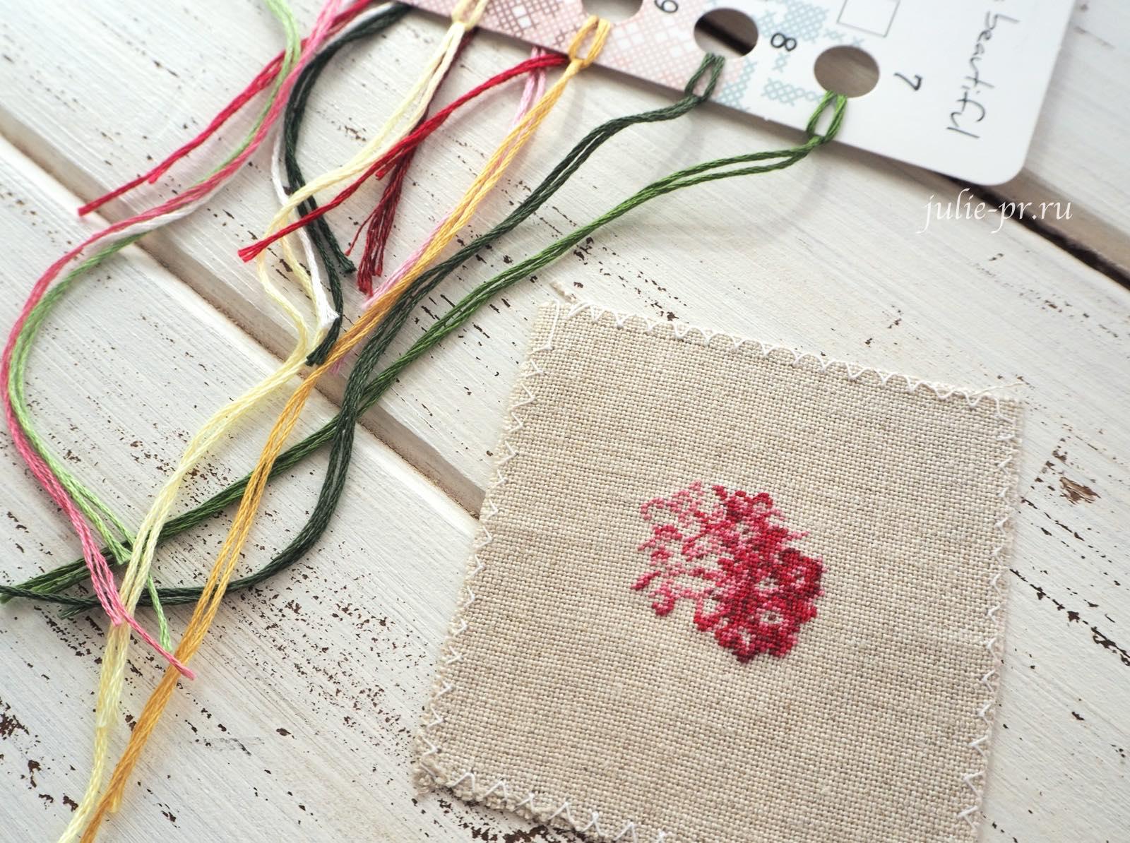 LB-Accessories, Life is beautiful, вышивка петитом, petit point, микровышивка, кулон с вышивкой, розовая гортенизя