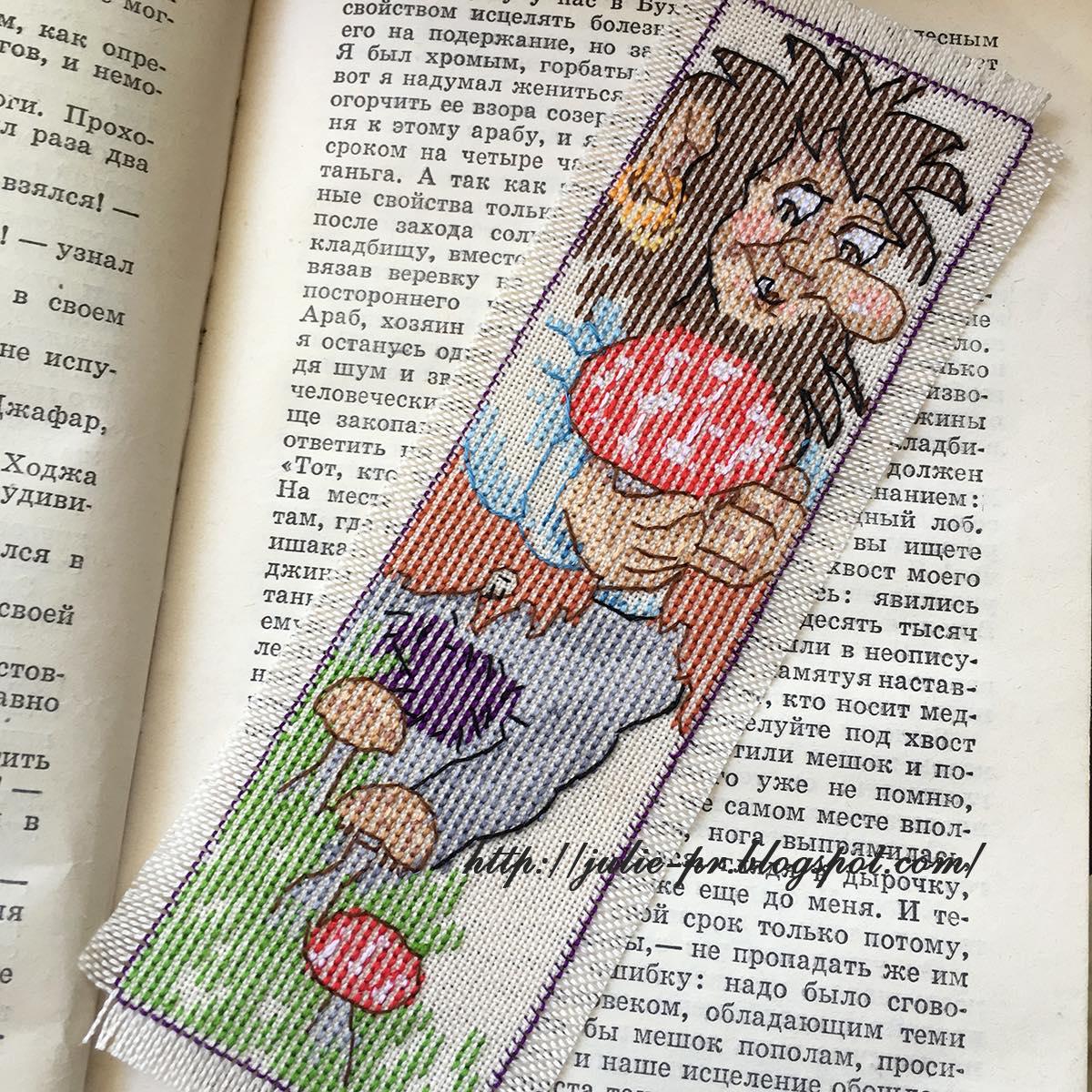 Вышивка крестом, закладка, тролль, Норвегия, Permin 05-5562 Troll bookmark, пермин, закладка с троллем