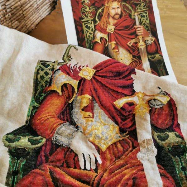 Le Roi Arthur, Король Артур, Zephir d'Elph, Nimue, вышивка крестом