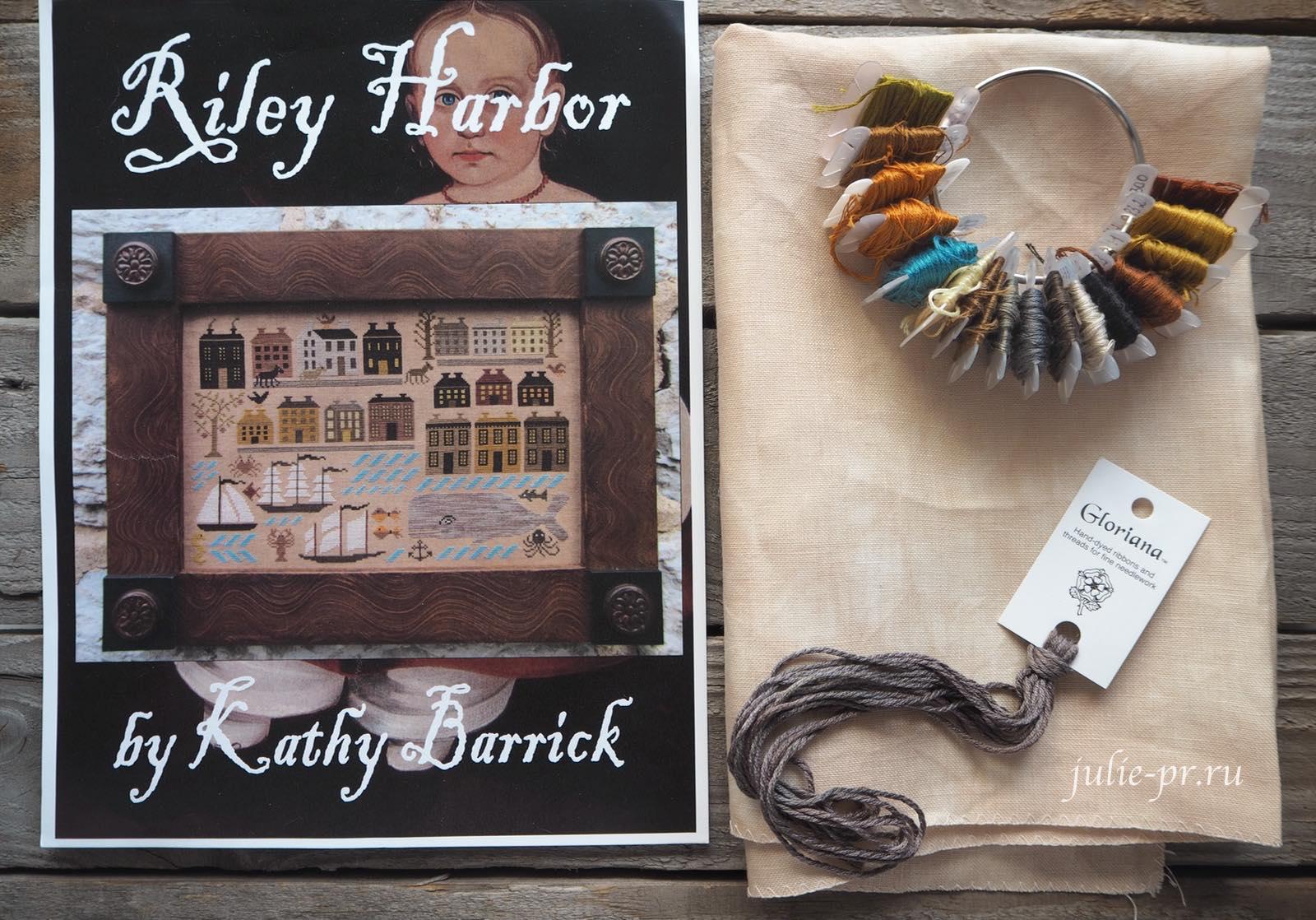Kathy Barrick, Riley Harbor, гавань райли, вышивка крестом, примитив