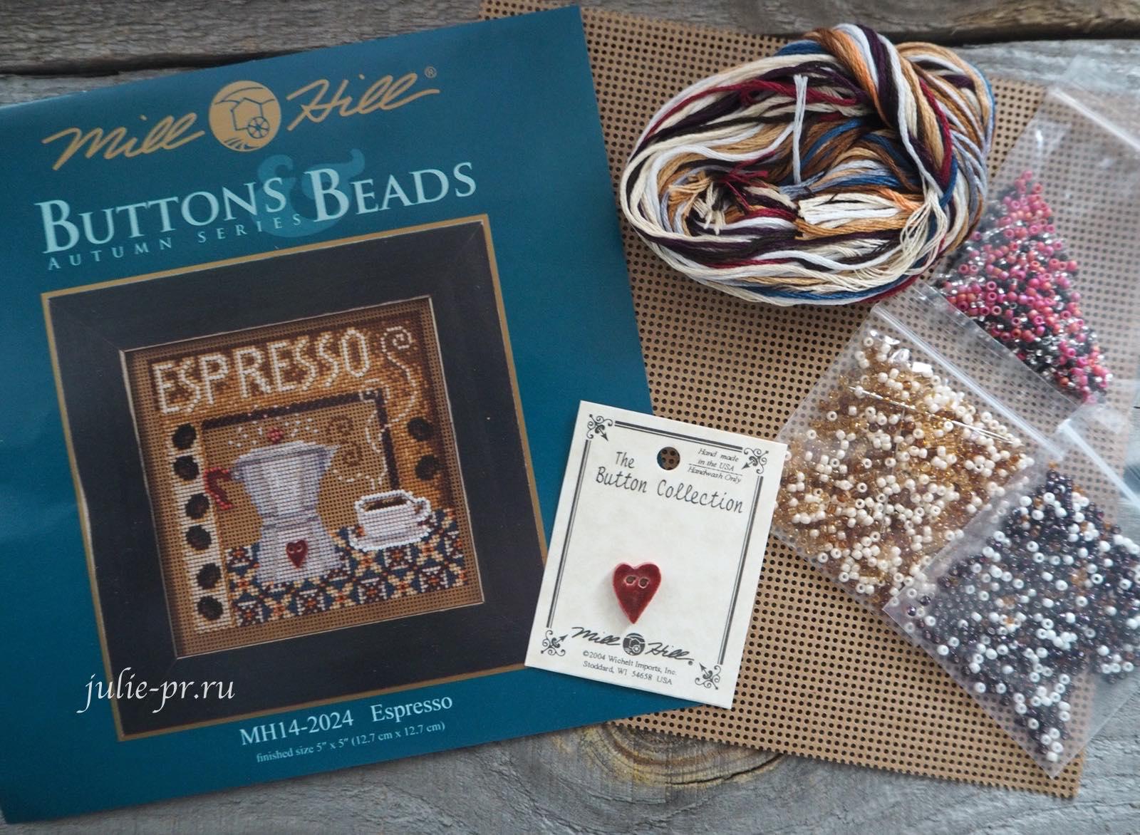 Mill Hill, вышивка крестом, вышивка бисером, кофе, кофейник, эспрессо, espresso, MH14-2024