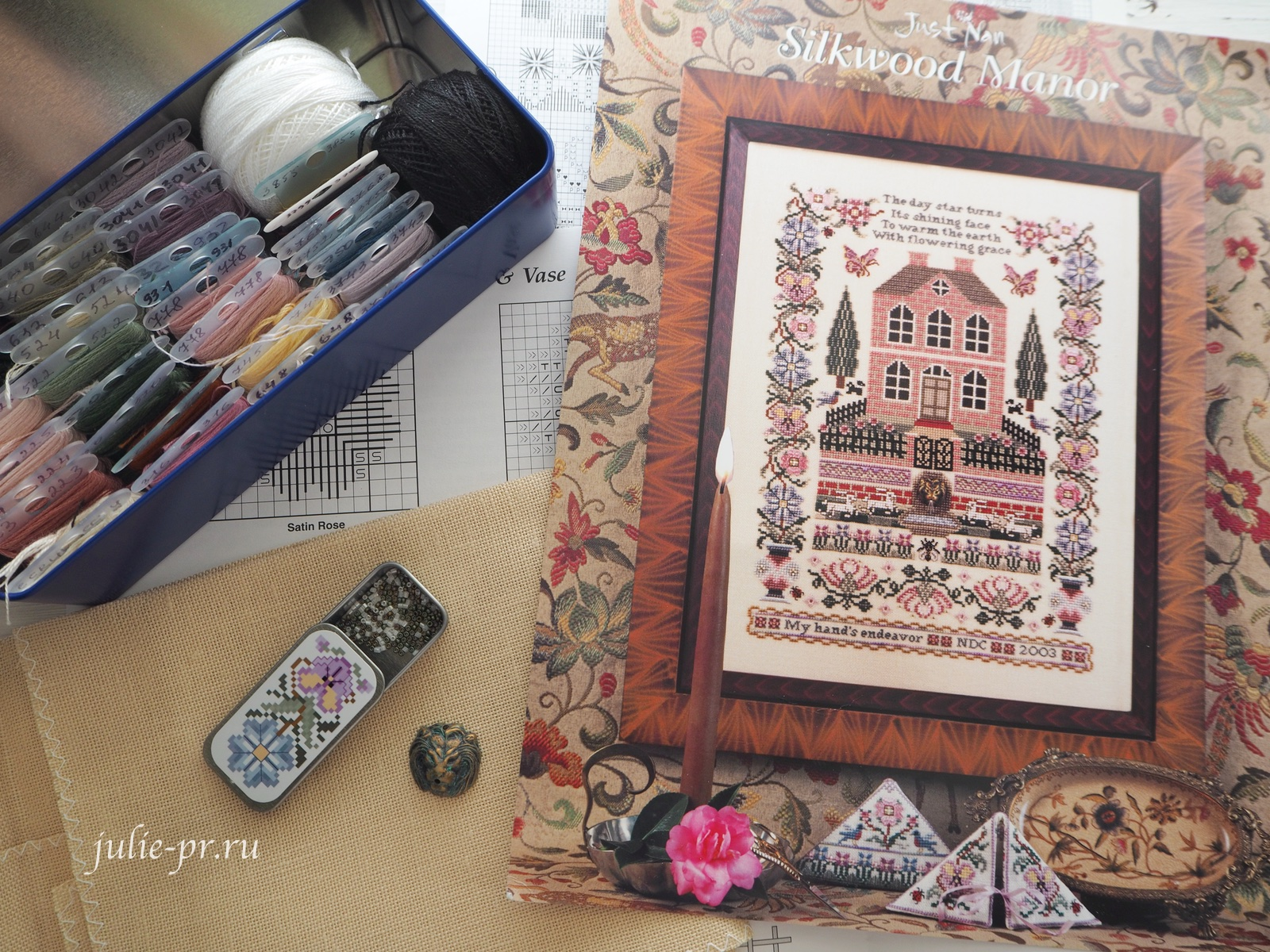 Silkwood Manor, Just Nan, вышивка крестом, дом, поместье