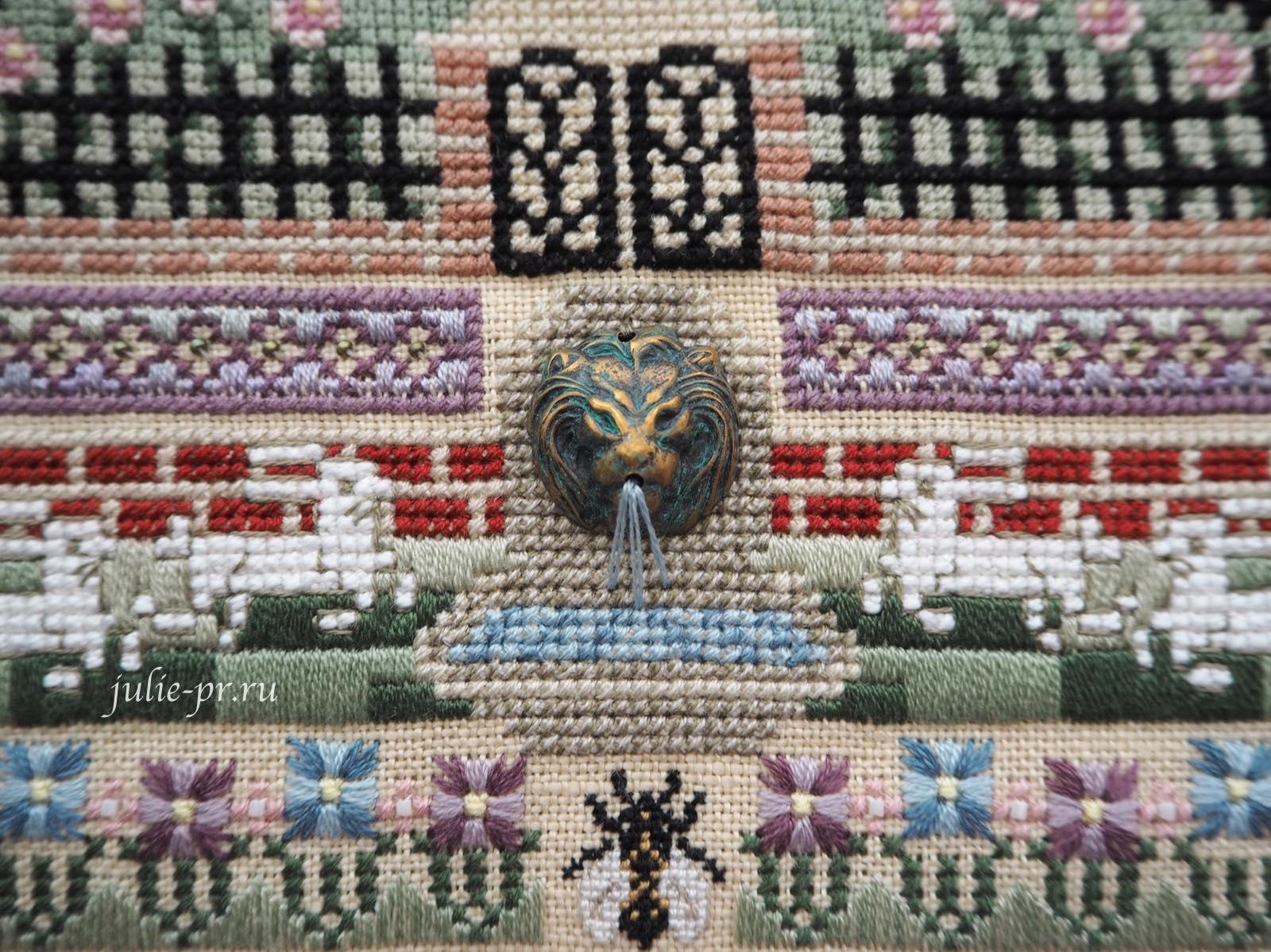 вышивка крестом, Silkwood Manor, Just Nan, дом, поместье, вышивка бисером, вышивка шовчиками, голова льва