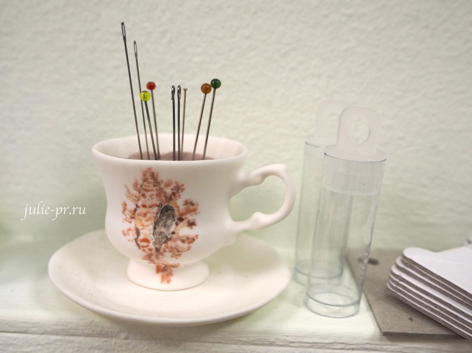 чашка-игольница, фарфор