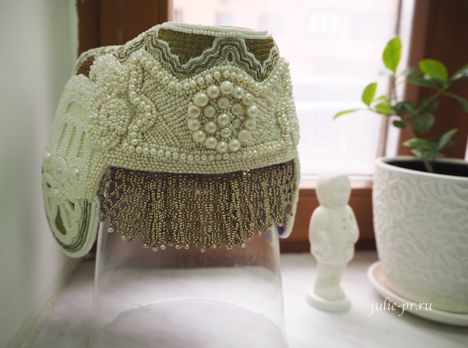 Кокошник, вышивка бисером, низание бисером, Катерина Мороз, вышивка жемчугом