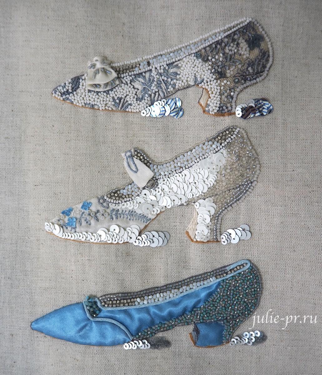 Туфельки, Катерина Мороз, кутюрная вышивка, вышивка бисером, вышивка пайетками