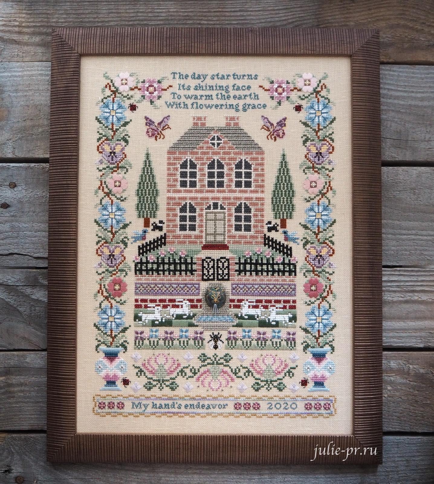 Silkwood Manor, Just Nan, вышивка крестом, вышивка шовчиками, оформление в рамку
