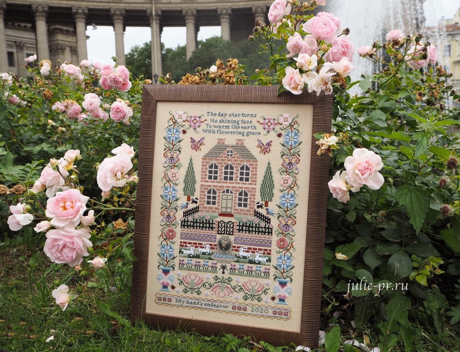 Silkwood Manor, Just Nan, вышивка крестом, вышивка шовчиками, оформление в рамку, Казанский собор