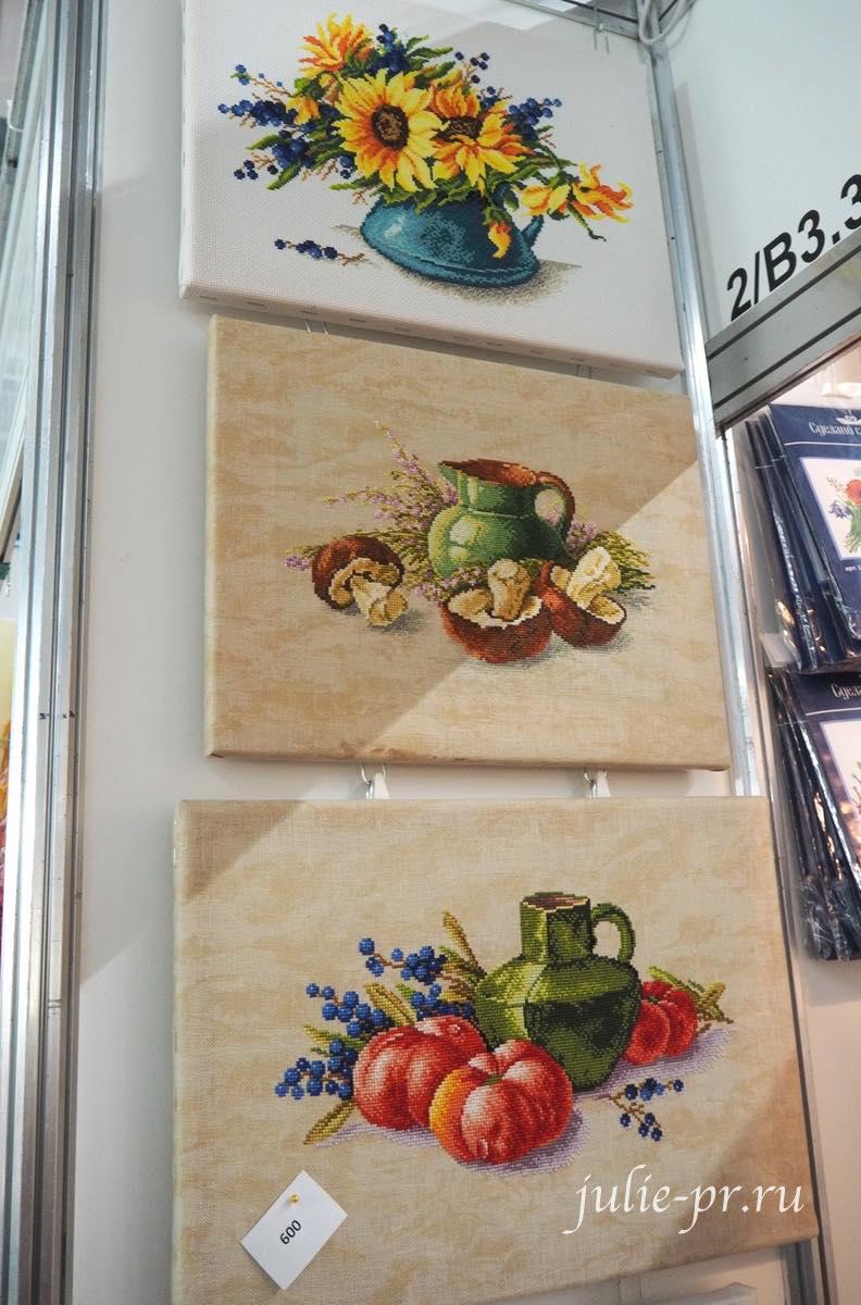 Светлана Прокопец, Сделано с любовью, вышивка крестом, грибы, овощи, букет подсолнухов