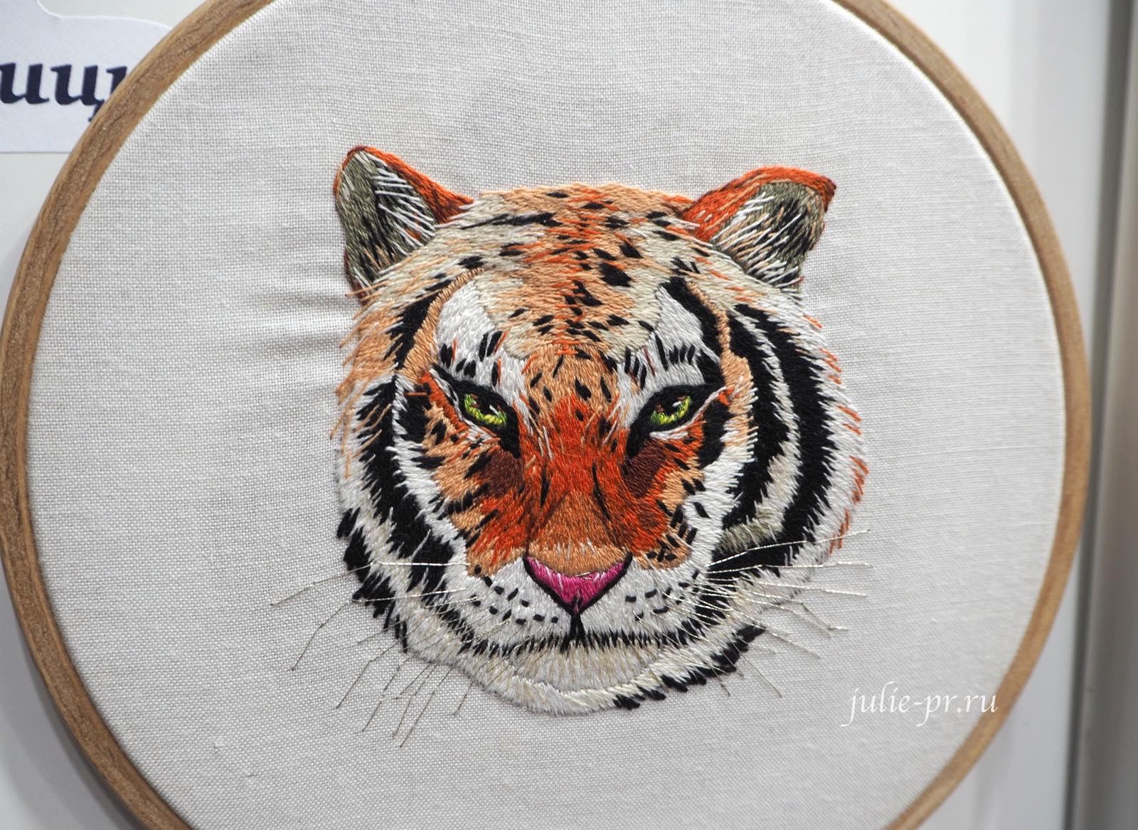 Panna, Панна, вышивка гладью, тигр