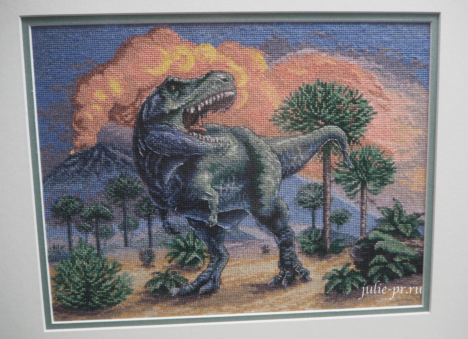 Panna, панна, вышивка крестом, динозавр