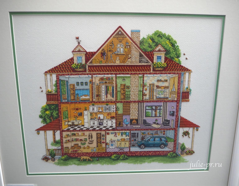 Panna, панна, вышивка крестом, дом в разрезе