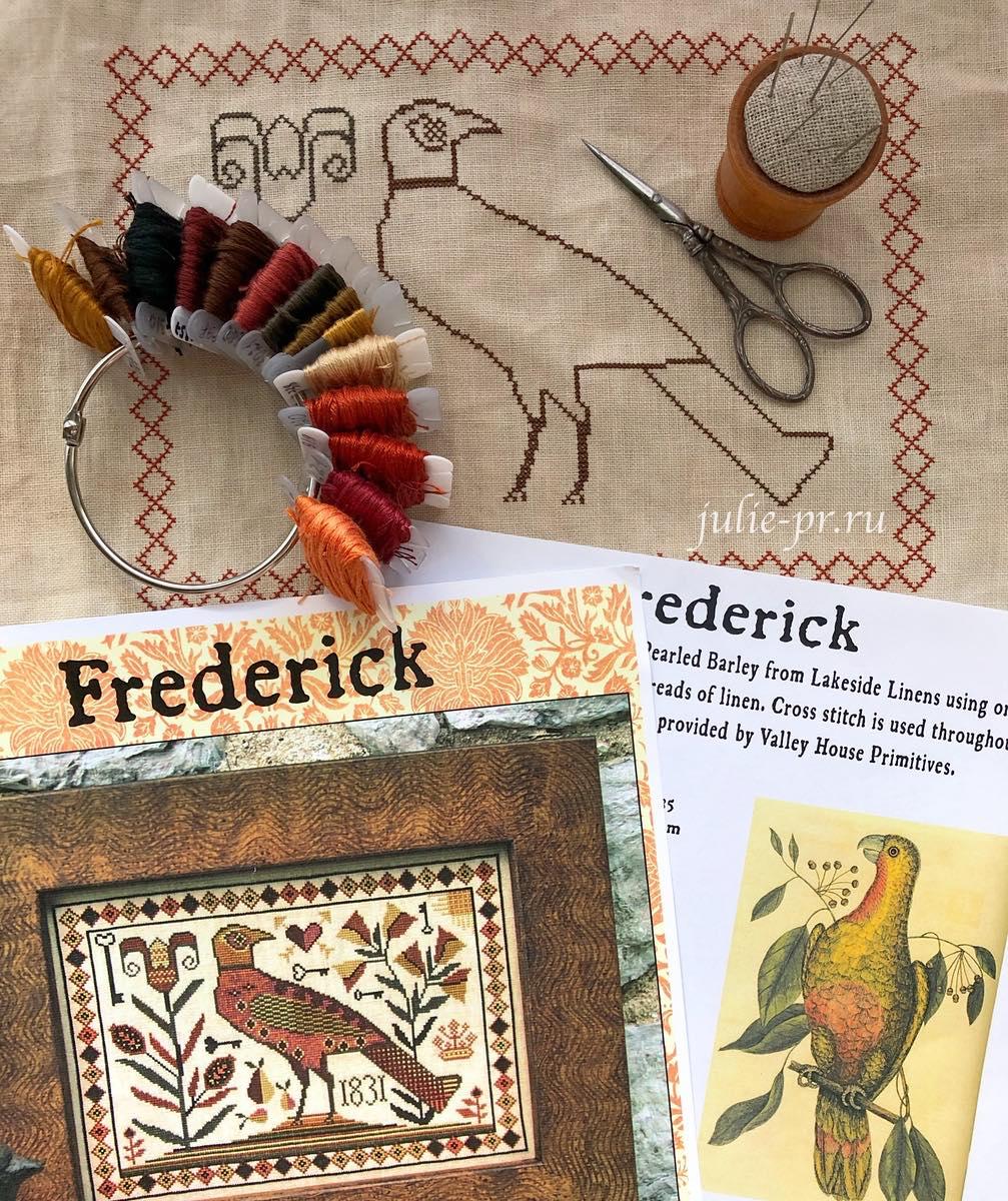 Frederick, Carriage House Samplings, Kathy Barrick, Фредерик, вышивка крестом, примитив