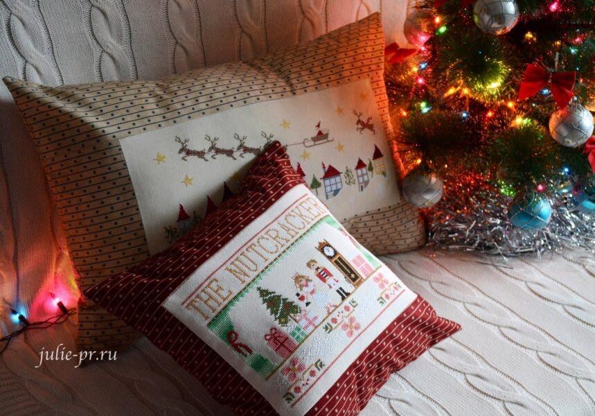 подушки с вышивкой, вышивка крестом, примитивы, En retard, Madame Chantilly, олень отстал, щелкунчик, The Nutcracker, Country Cottage Needleworks