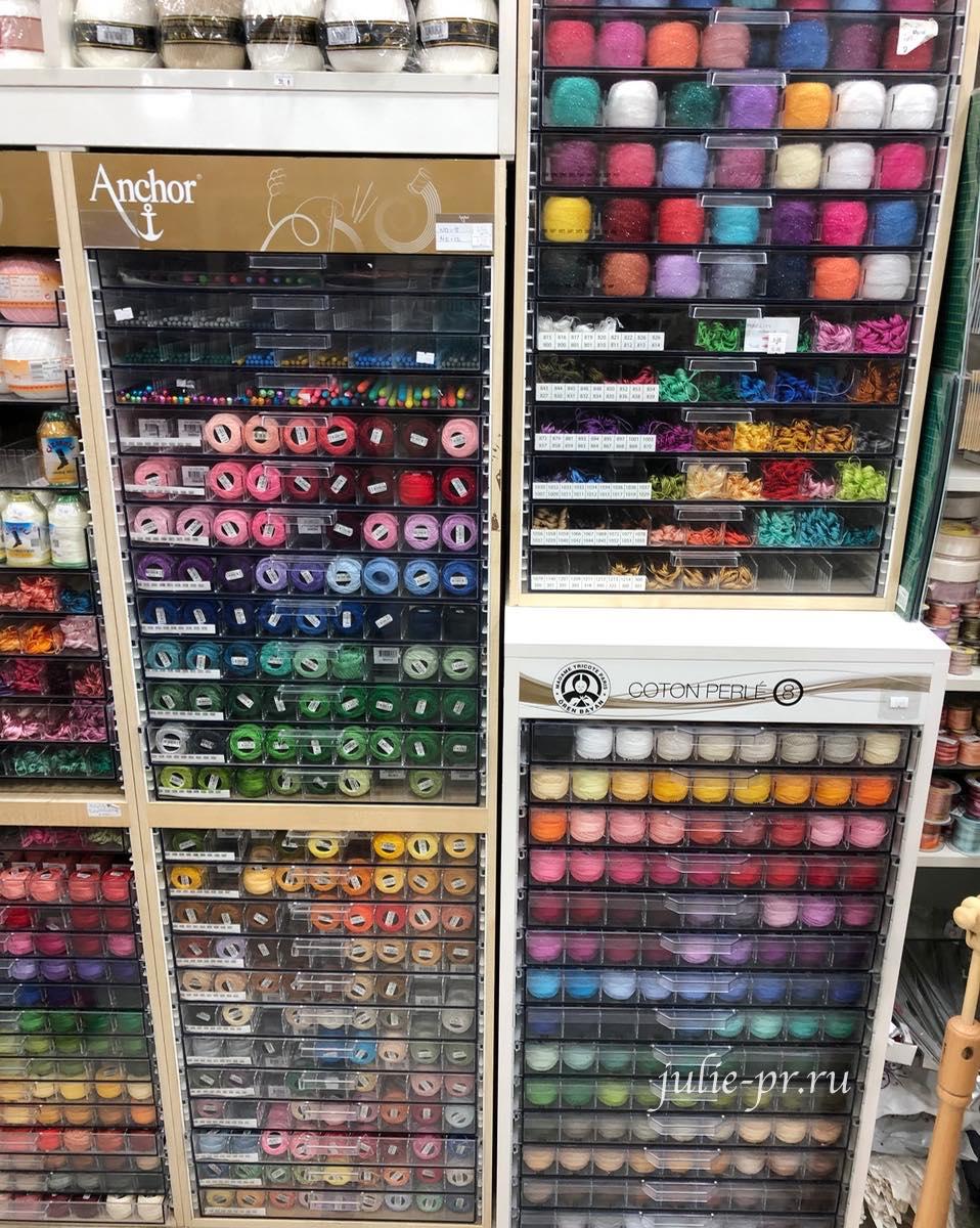 Мулине Anchor, Стамбул, вышивка, рукодельный магазин, Hira teks, hobby & dantel, Eminonu