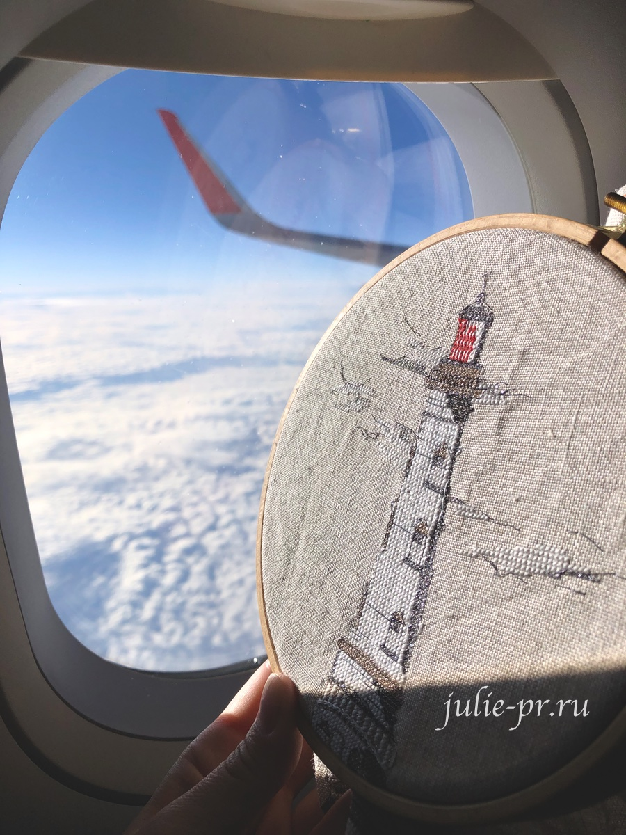 Soizic, Le Phare des Rois, Кордуанский маяк, Phare de Cordouan, вышивка крестом, вышивка в самолете, белый маяк