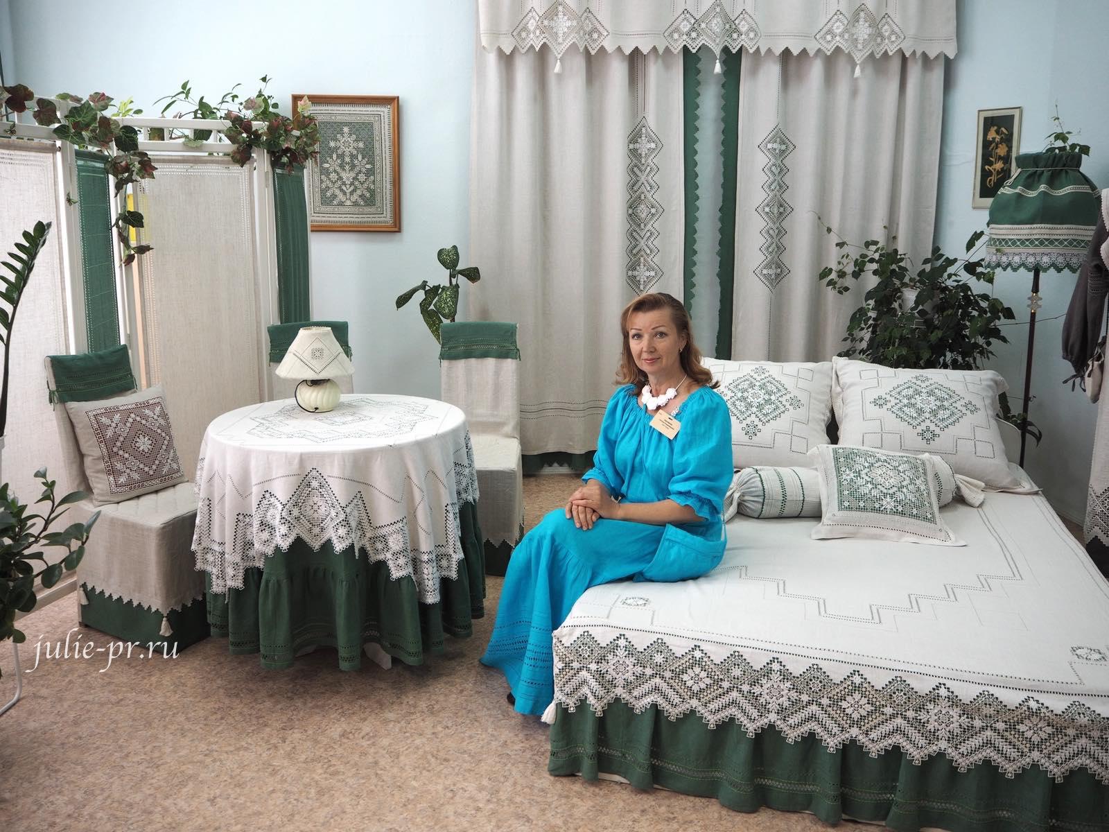 Чкаловск, Горьковский гипюр, Нижегородский гипюр, вышивка, вышитое постельное белье, постельное белье с вышивкой