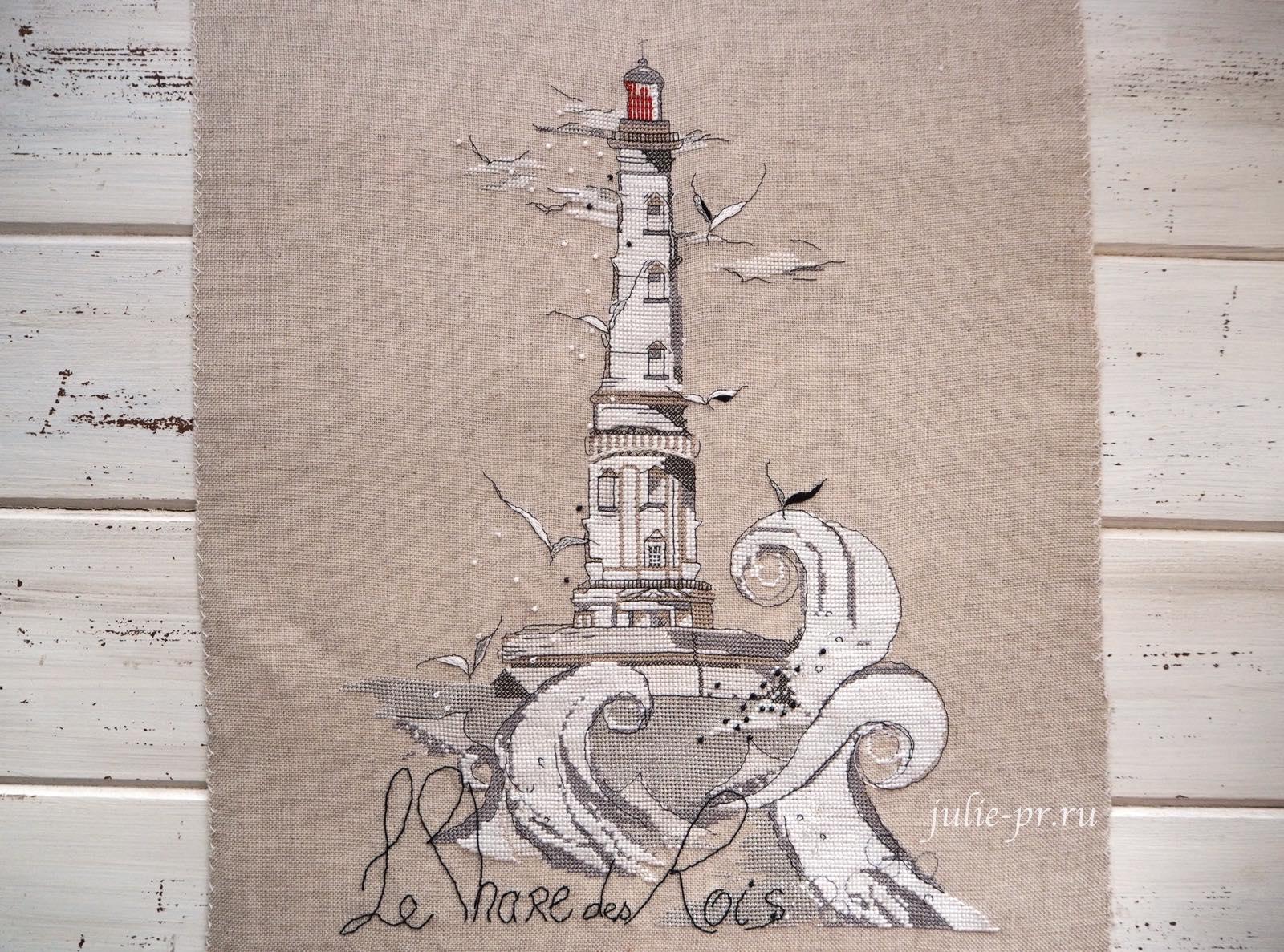 Soizic, Le Phare des Rois, Кордуанский маяк, Phare de Cordouan, вышивка крестом, белый маяк, французская вышивка