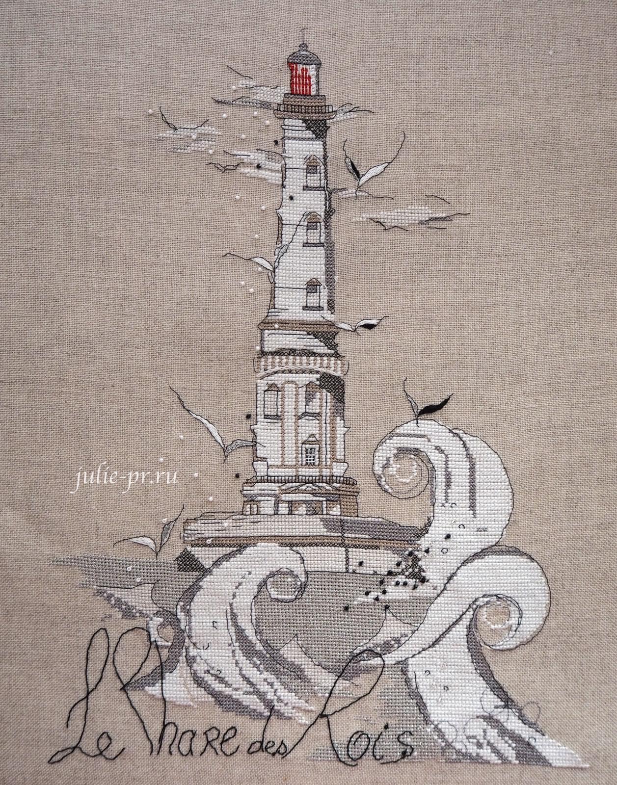 Soizic, Le Phare des Rois, Кордуанский маяк, Phare de Cordouan, вышивка крестом, белый маяк