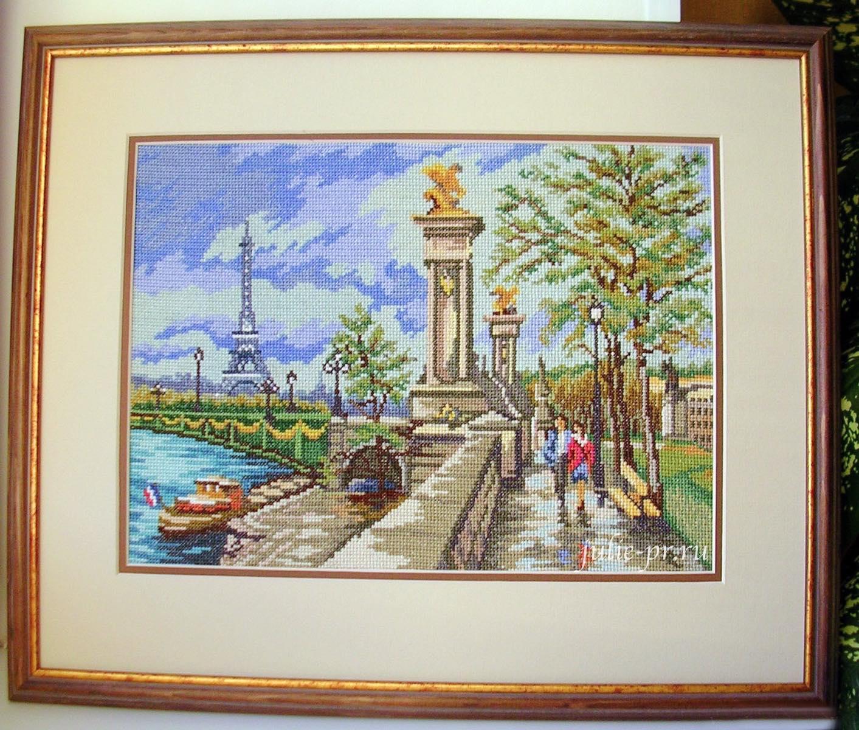 Париж, Мост Александра III, вышивка крестом, журнал Чудесные мгновения