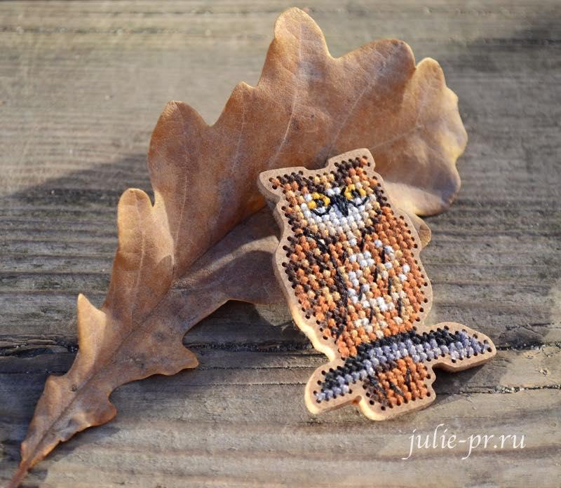 Дивная вишня, вышивка по дереву, вышивка на деревянной основе, сова