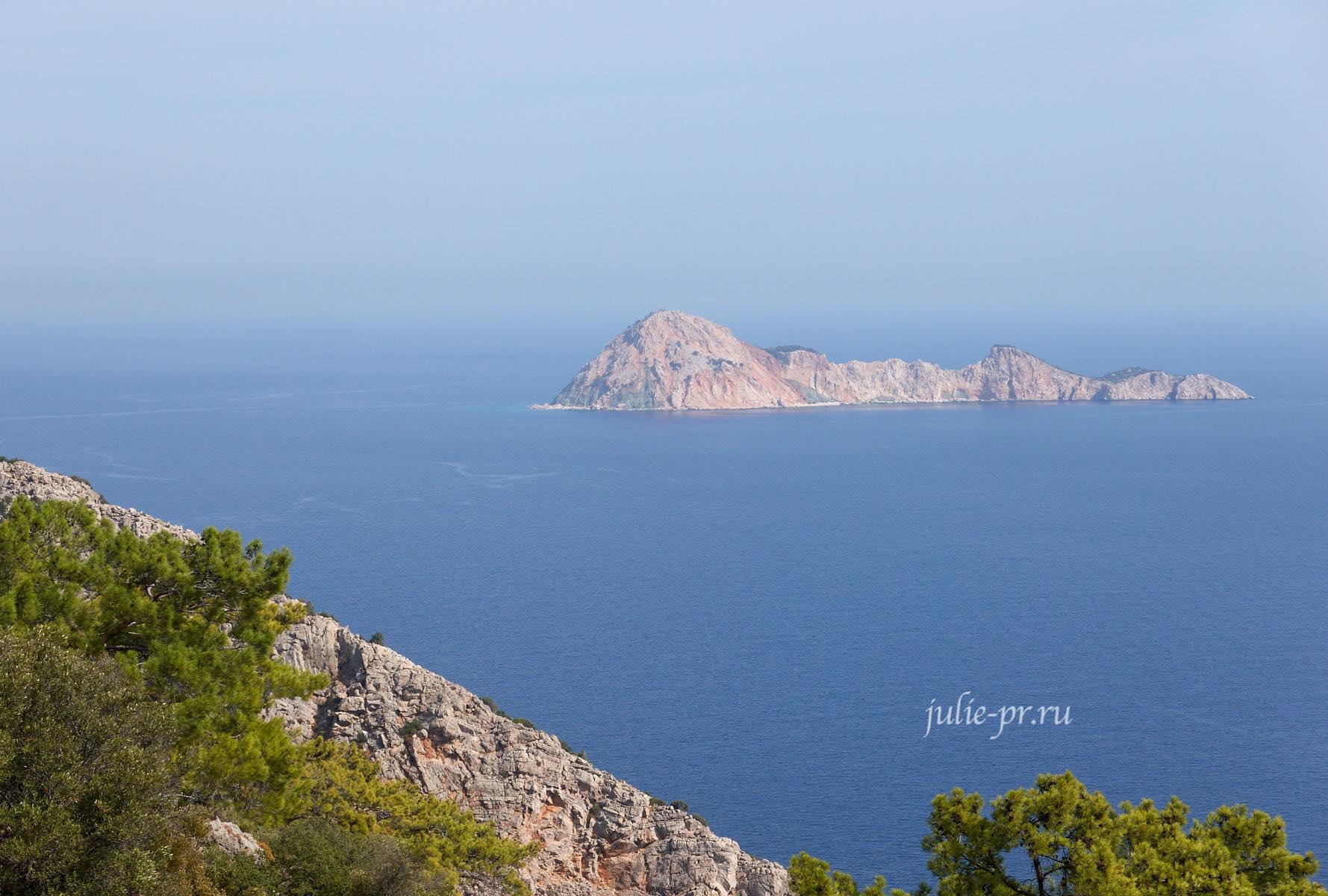 Турция, Ликийская тропа, мыс Гелидония, остров Suluada