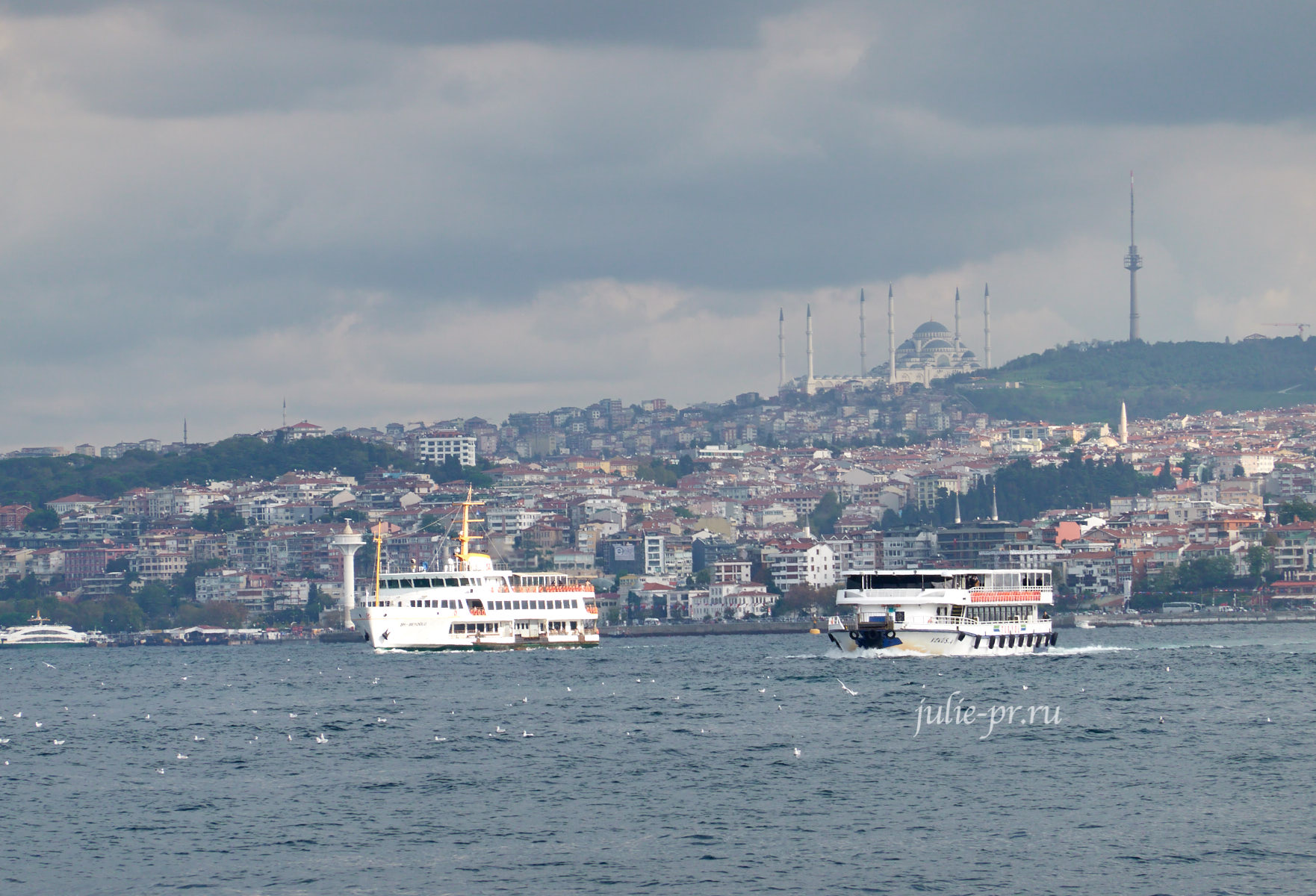 Турция, Стамбул, Босфор, мечеть Чамлыджа