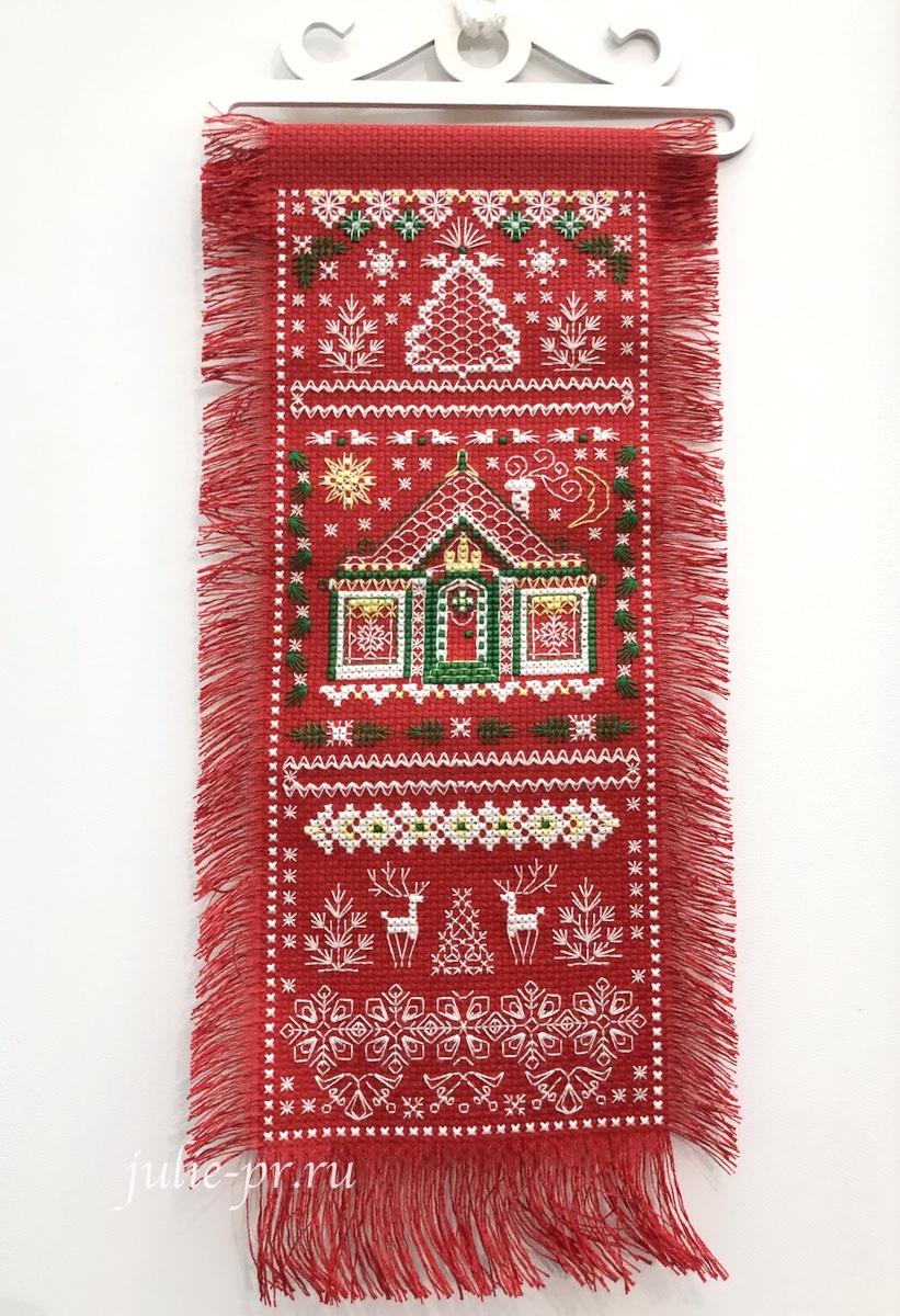 Риолис, Лапландия, вышивка крестом, формула рукоделия зима 2020