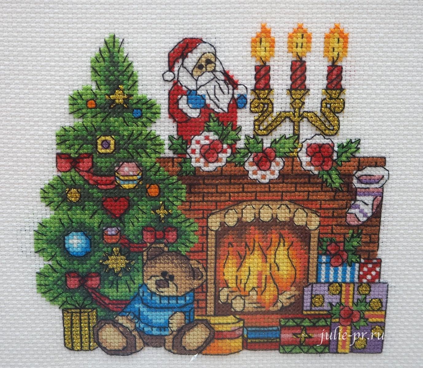 Панна, рождественский камин, panna, вышивка крестом, формула рукоделия зима 2020