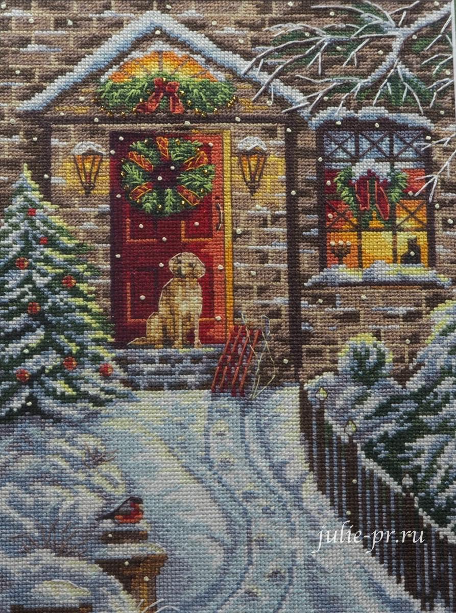 Панна, В канун Рождества, panna, вышивка крестом, формула рукоделия зима 2020