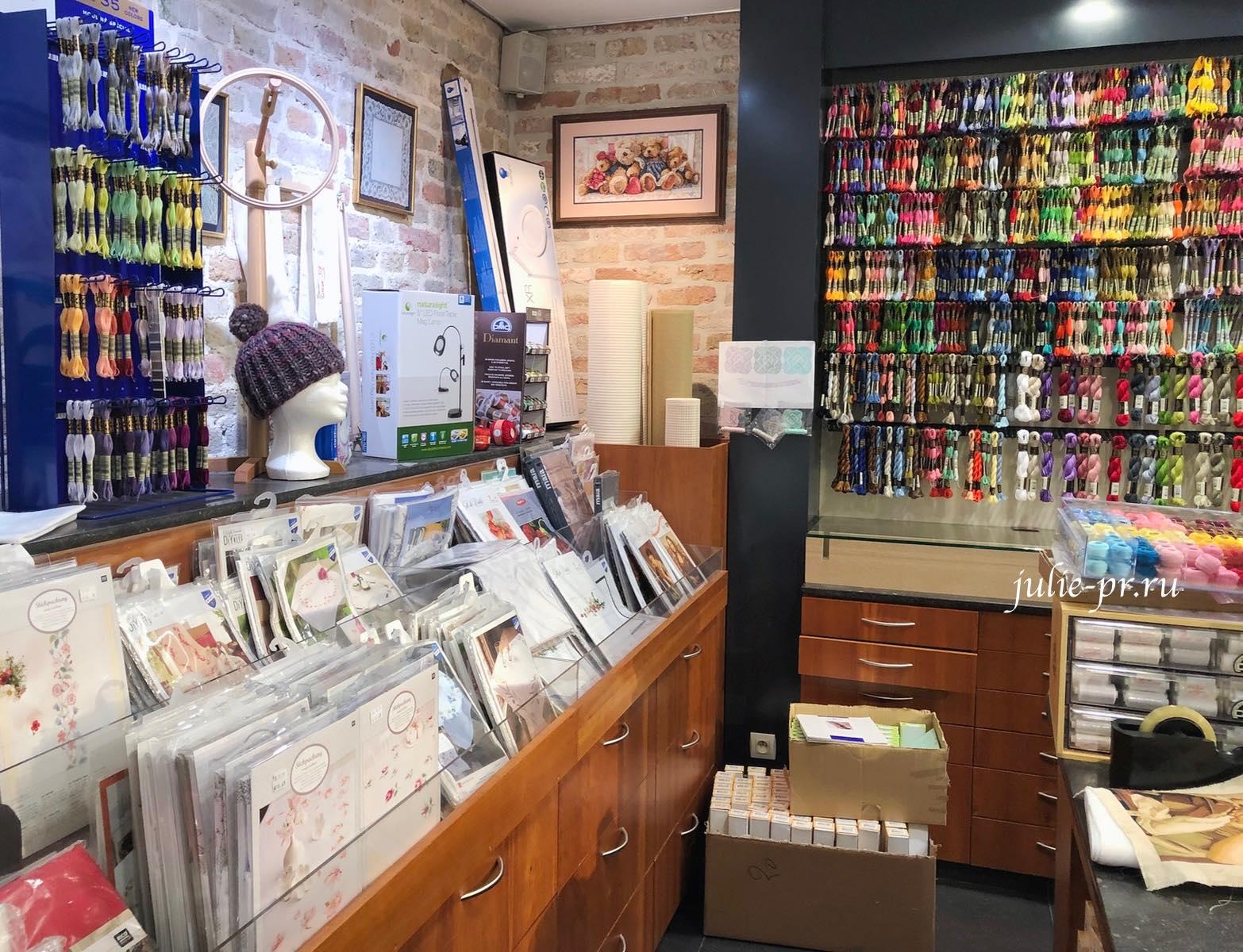 вышивка крестом, рукодельный магазин Scharlaeken, Брюгге