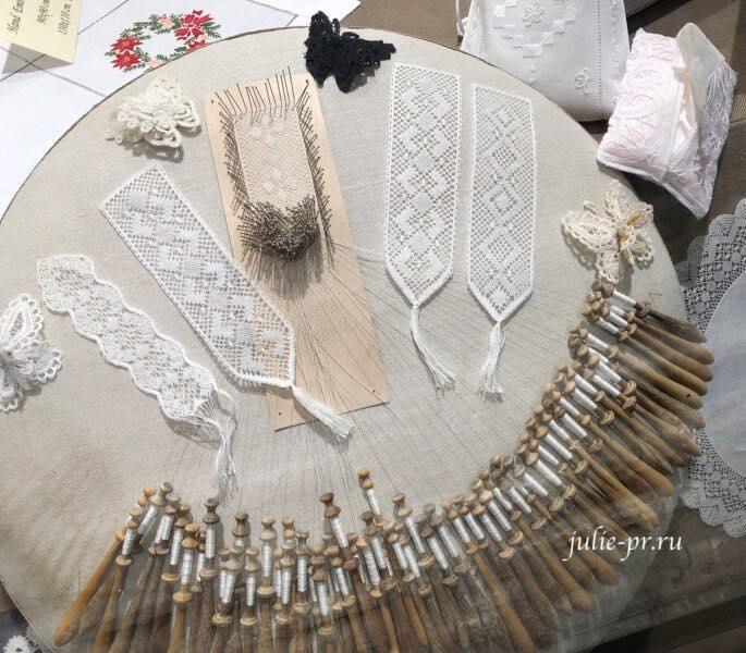 Бельгийское кружево, Брюгге, плетение на коклюшках