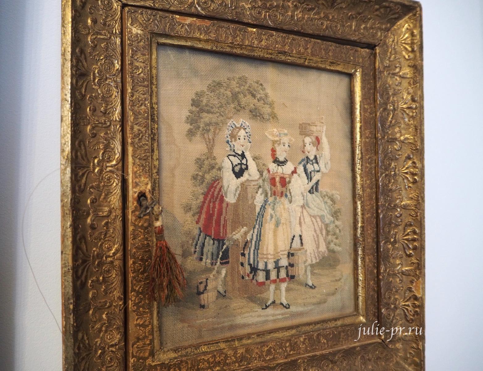 выставка Как роза ты нежна, вышивка гладью, музей усадьба Г. Р. Державина