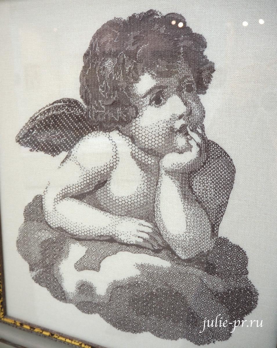 Всероссийская выставка вышивки, вышивка, блэкворк, ангел