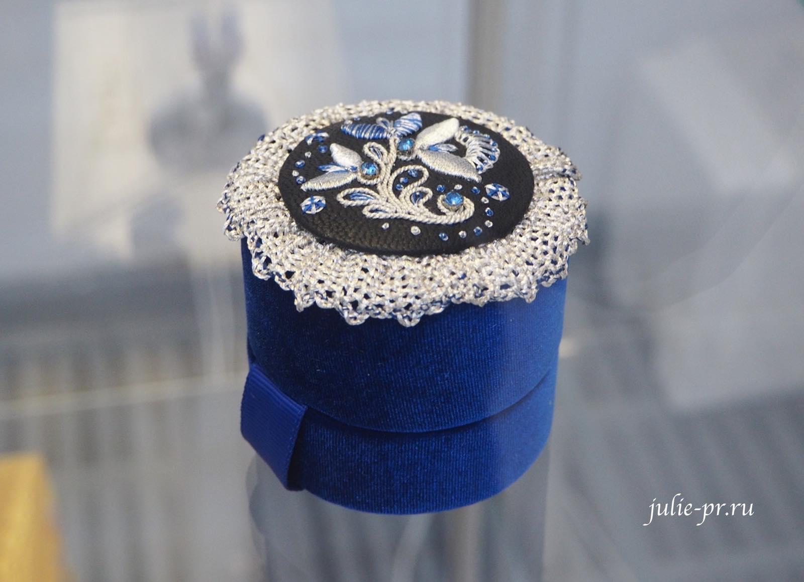 Всероссийская выставка вышивки, вышивка, Шкатулка, золотное шитье